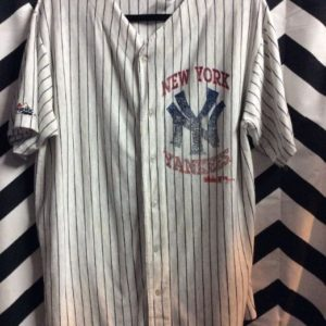 SS BD COTTON PINSTRIPED NY YANKEES JERSEY SUPER SOFT 1