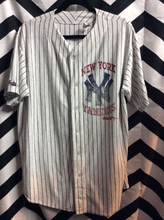 reputable site 84c73 70d42 SS BD COTTON PINSTRIPED NY YANKEES JERSEY SUPER SOFT