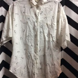 SS BD White Cotton Top Abstract Pattern 1