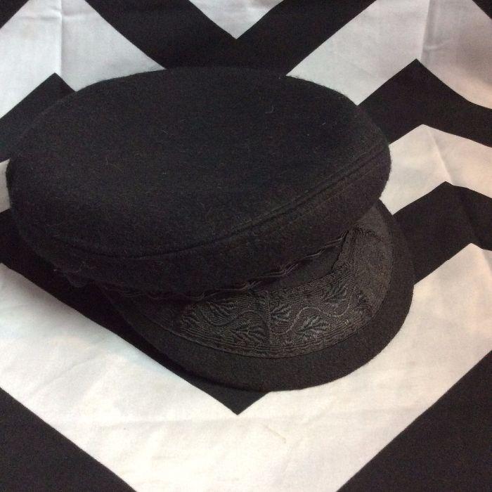 Greek Fisherman Wool Blend Hat Cap Black Medium 7 Made In Greece 2 50640f1c2b5a