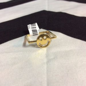 SQUARE RING SMALL SMILEY FACE- CLASSIC SIZE 1