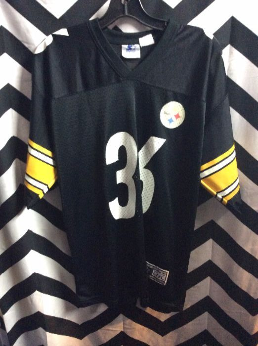 STARTER FOOTBALL JERSEY – PULLOVER – PITTSBURGH STEELERS – JEROME BETTIS  36  – NFL ac7e5e0e4