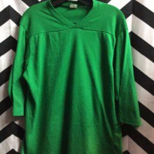 TSHIRT Green Vintage Jersey Cut Style 1