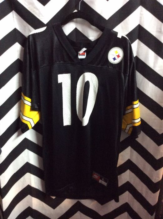 6a62a9ed1 NIKE FOOTBALL JERSEY - STEELERS - STEWART  10 - STRIPES ON ARMS ...