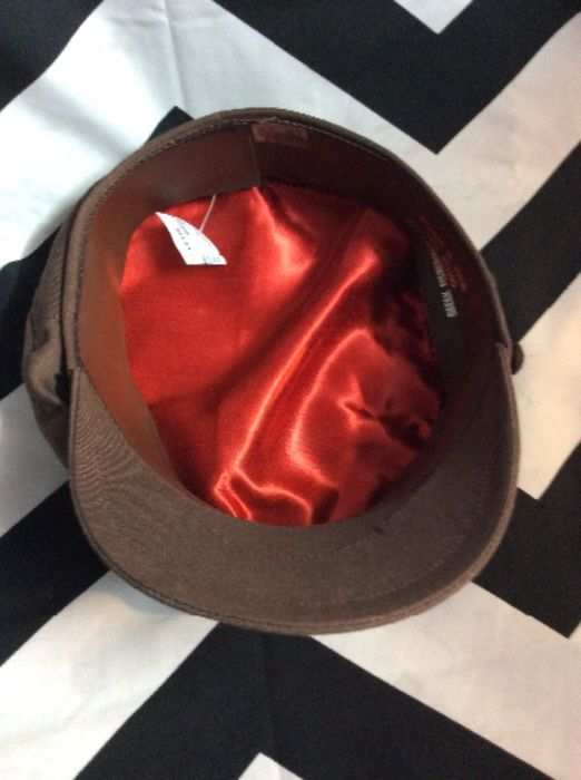 Vintage 100% Cotton Greek Fisherman s Hat Red silk linking Made in Greece 6 c1bcd569c1a3