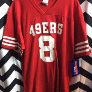 NWT DEADSTOCK 49ERS COTTON JERSEY #8 STEVE YOUNG 1