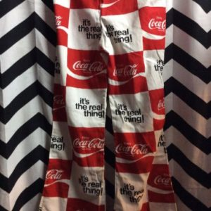 Drawstring Coca Cola Flare Pants 1