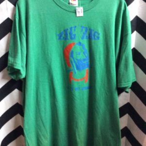 Green ZIG ZAG TSHIRT Lets Get Stoned 1
