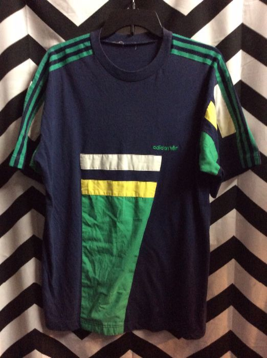 adidas colorblock tee shirt
