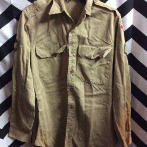 LS BD Khaki cub scouts shirt 1