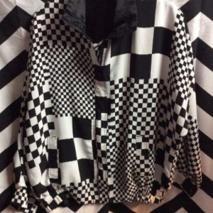 1980S-90S REVERSIBLE CHECKERED BOMBER JACKET 1