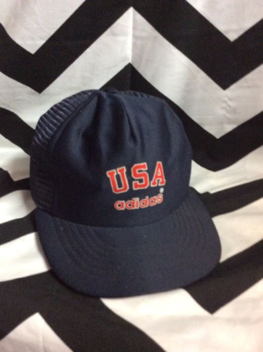 RETRO ADIDAS BASEBALL STYLE CAP - USA - SNAP BACK as-is » Boardwalk Vintage c8cb2f918a4