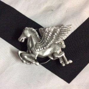 Pewter Pegasus Flying Horse Belt Buckle 1