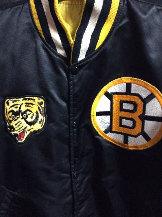 best sneakers 1a2d8 00997 VINTAGE STARTER BASEBALL STYLE JACKET - BOSTON BRUINS - NHL - AUTOGRAPHED