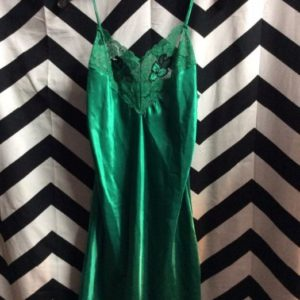 LITTLE SILKY & LACE NIGHT GOWN DRESS APPLIQUE 1