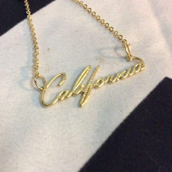 CALIFORNIA SCRIPT NECKLACE 1