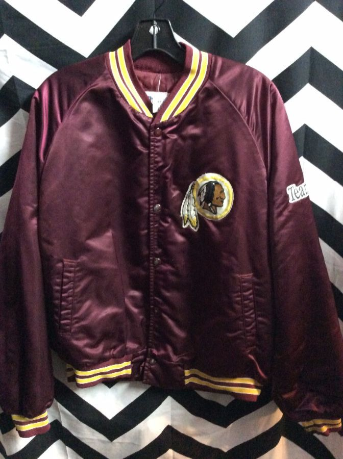 size 40 8afc4 aa94f VINTAGE CHALK LINE BASEBALL STYLE JACKET - SATIN - WASHINGTON REDSKINS - NFL