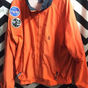 NAUTICA WINDBREAKER JACKET - ZIP-UP - THICK - EMBROIDERED FLAG BACK DESIGN 3