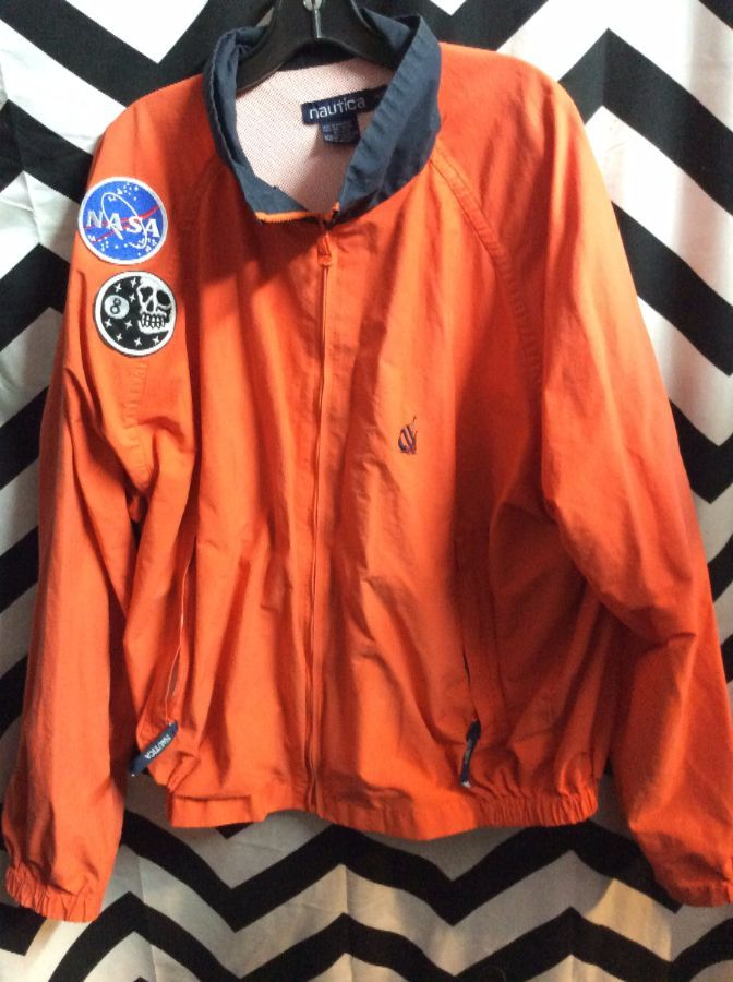 7399f01587 NAUTICA WINDBREAKER JACKET - ZIP-UP - THICK - EMBROIDERED FLAG BACK DESIGN 3