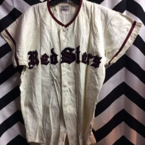 Cotton Button up Japanese Baseball Jersey Redsters #9 as-is 1