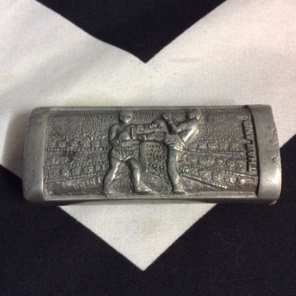 product details: SUPER HEAVY METAL LIGHTER HOLDER THAILAND (ELEPHANTS & MUAY THAI) photo