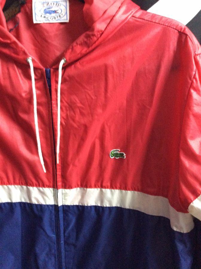 Up Lacoste Retro Zip Hooded Color Windbreaker Jacket Izod eE2IYHWD9