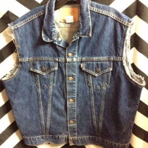 BIG E LEVIS DENIM VEST CUT SLEEVES 1