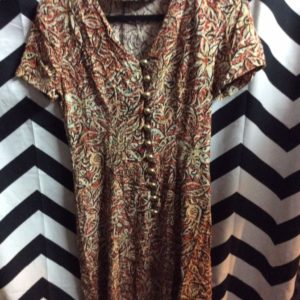 LITTLE SS RAYON BD DRESS ETHNIC PRINT 1