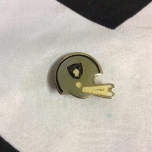 Raiders 2 bar helmet enamel pin 1