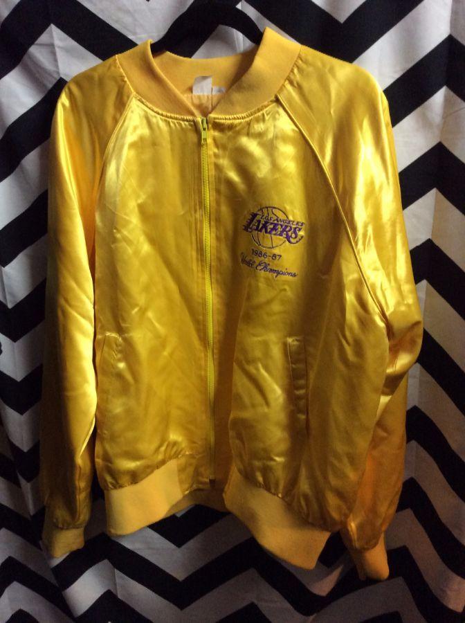 1980 S Vintage Sports Jacket Zip Up Los Angeles Lakers 1986 1987 Nba World Champions Boardwalk Vintage