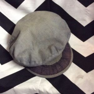 Greek Fisherman's Cap Hat FADED DENIM LOOK 100% Cotton Faded 1