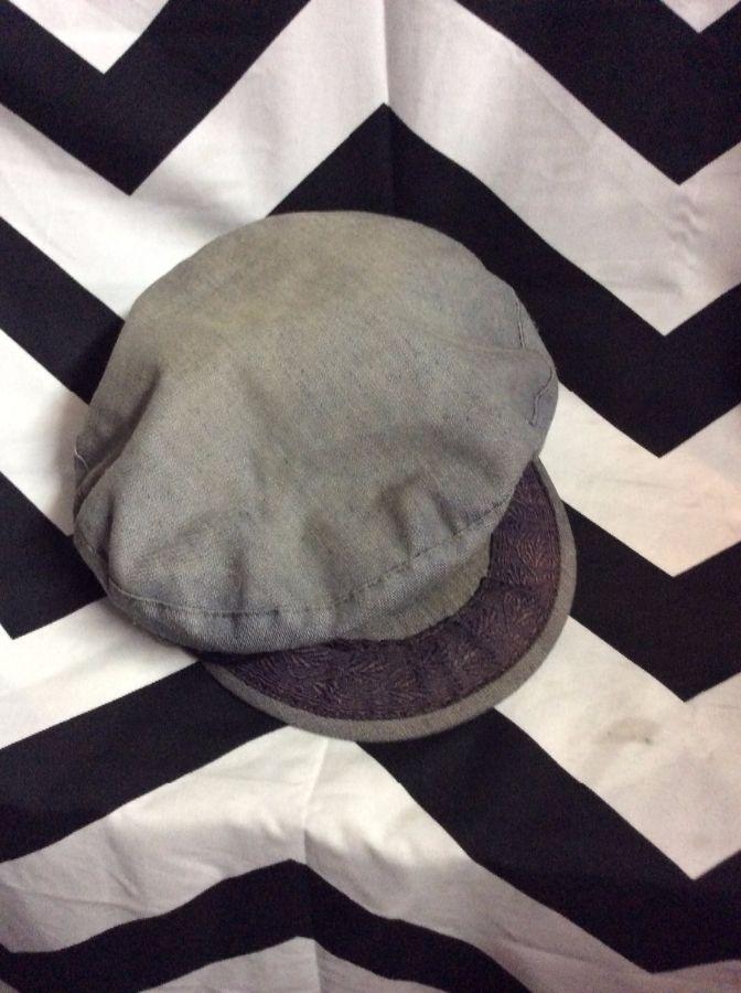 HAT - GREEK FISHERMAN S CAP - 100% COTTON - DENIM LOOK - FADED DENIM ... b77642b5096c