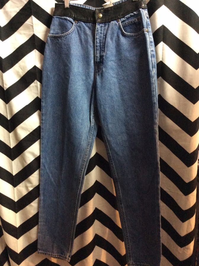 Harley Davidson Denim jeans with leather trim 1