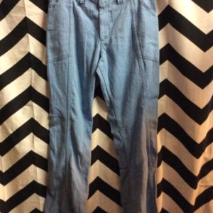 RETRO FLARED TWILL PANTS 1
