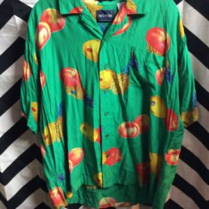 SS BD HAWAIIAN SHIRT PEACHES & PINEAPPLE 1