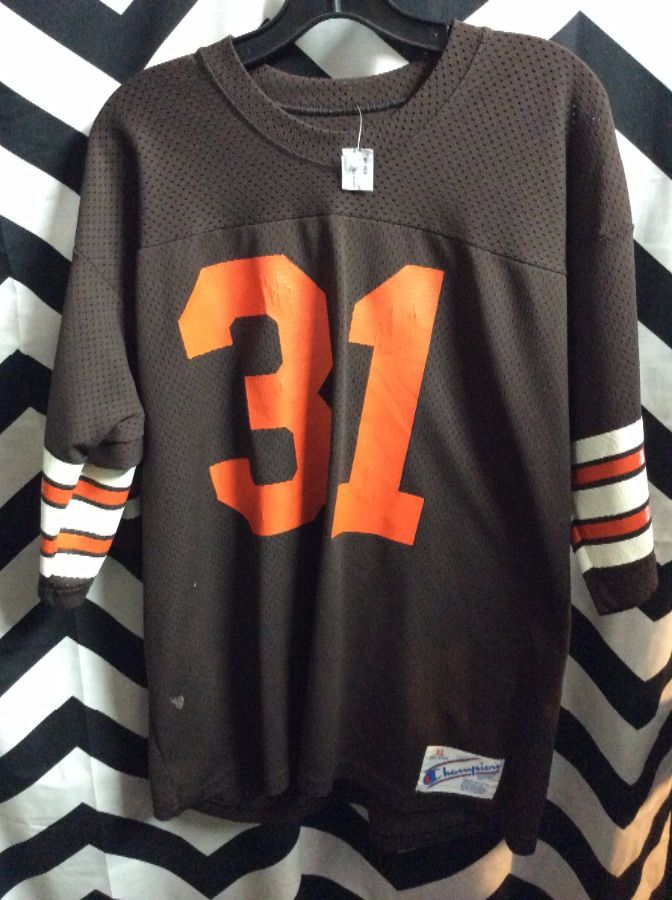low price deadstock vintage cleveland browns starter baseball jersey