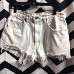 LEVIS SHORTS ZIP FLY FRAYED HEM SOLID 1