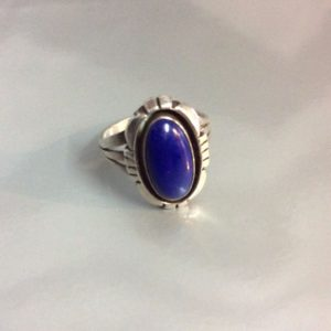 Little Blue Lapis Stone Signed D Sterling 1