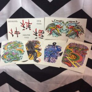 Asst 1980s Deadstock TEMPORARY TATTOOS - (panther, snake, etc) 1