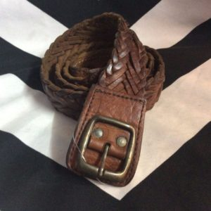 VINATGE BRAIDED LEATHER BELT 1