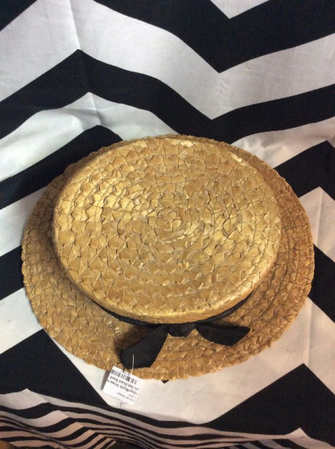 VINTAGE KEITH HAT - STRAW - VAUDEVILLE STYLE - RIBBON BAND ... 2cb36a784bf3