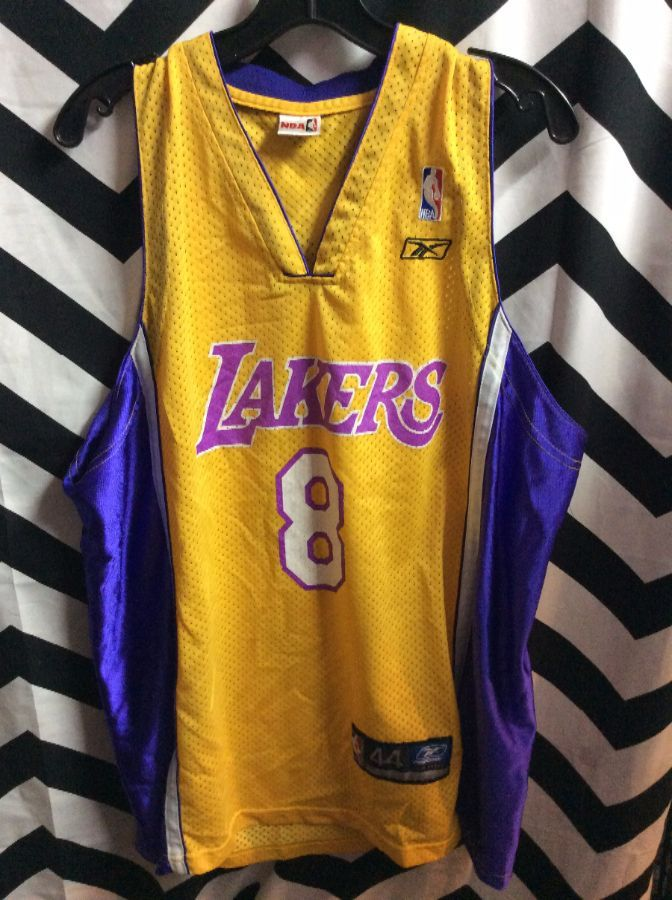 REEBOK BASKETBALL JERSEY LA LAKERS KOBE BRYANT #8 NBA AS IS