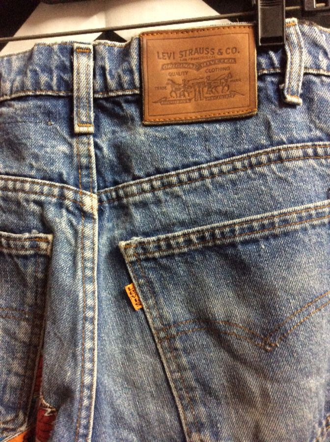 levis denim jeans orange tab custom design rag tag patches