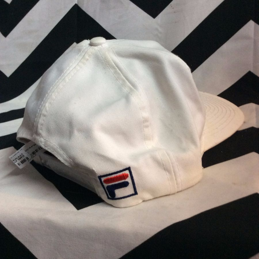 FILA BASEBALL CAP - EMBROIDERED LOGO FRONT AND SIDE - SNAPBACK ... 685cad4aa227