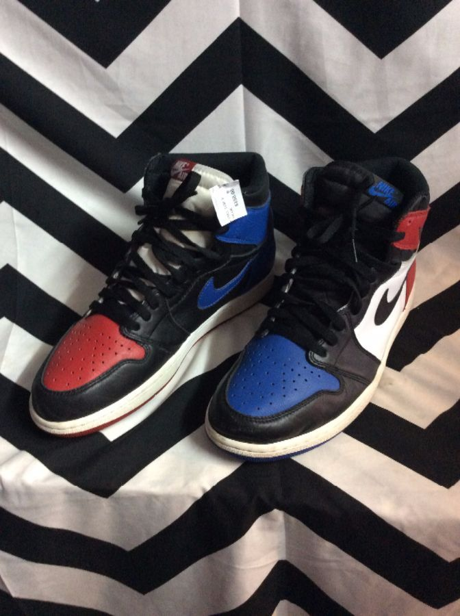 56a82db074be NIKE AIR JORDAN 1 RETRO  TOP 3  Mis-match » Boardwalk Vintage