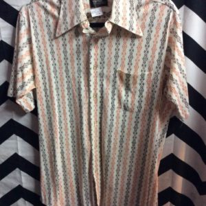 SS BD 70S POLY SHIRT SMALL VERTICAL PRINT 1