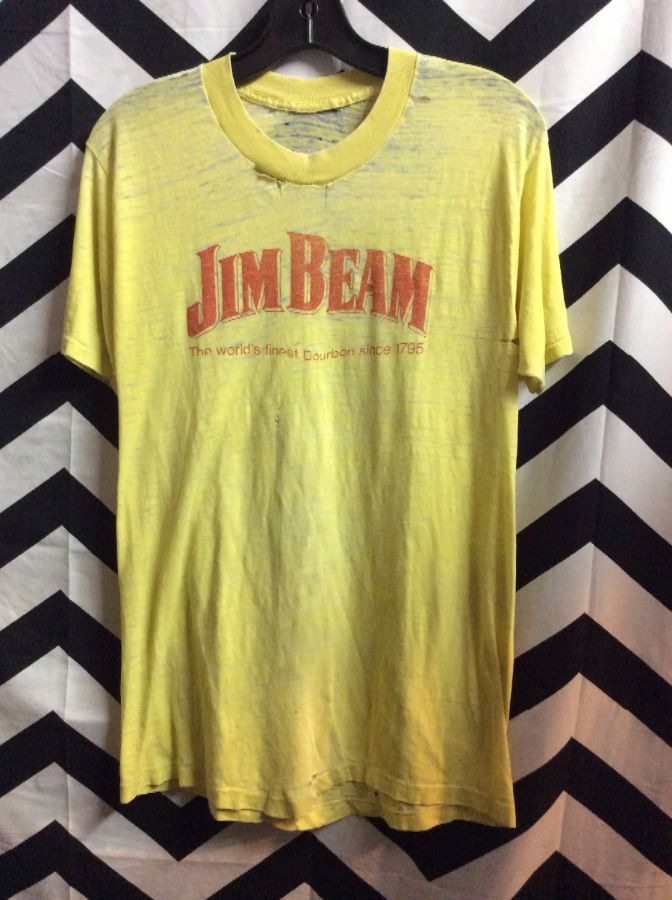 TSHIRT JIM BEAM SUPER THIN SOFT FRAYED 1