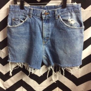 LEE SHORTS FREYED CLASSIC DENIM HOLES IN BUTT 1