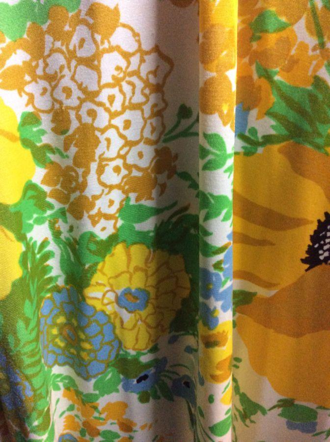 LONG TIE TANK DRESS DAISY FLORAL PATTERN TIED WAIST 3