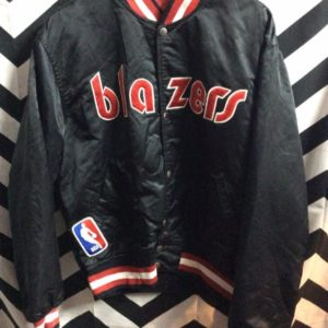 NBA Portland Trailblazers Traditional letter BLAZERS Starter Jacket as-is 1